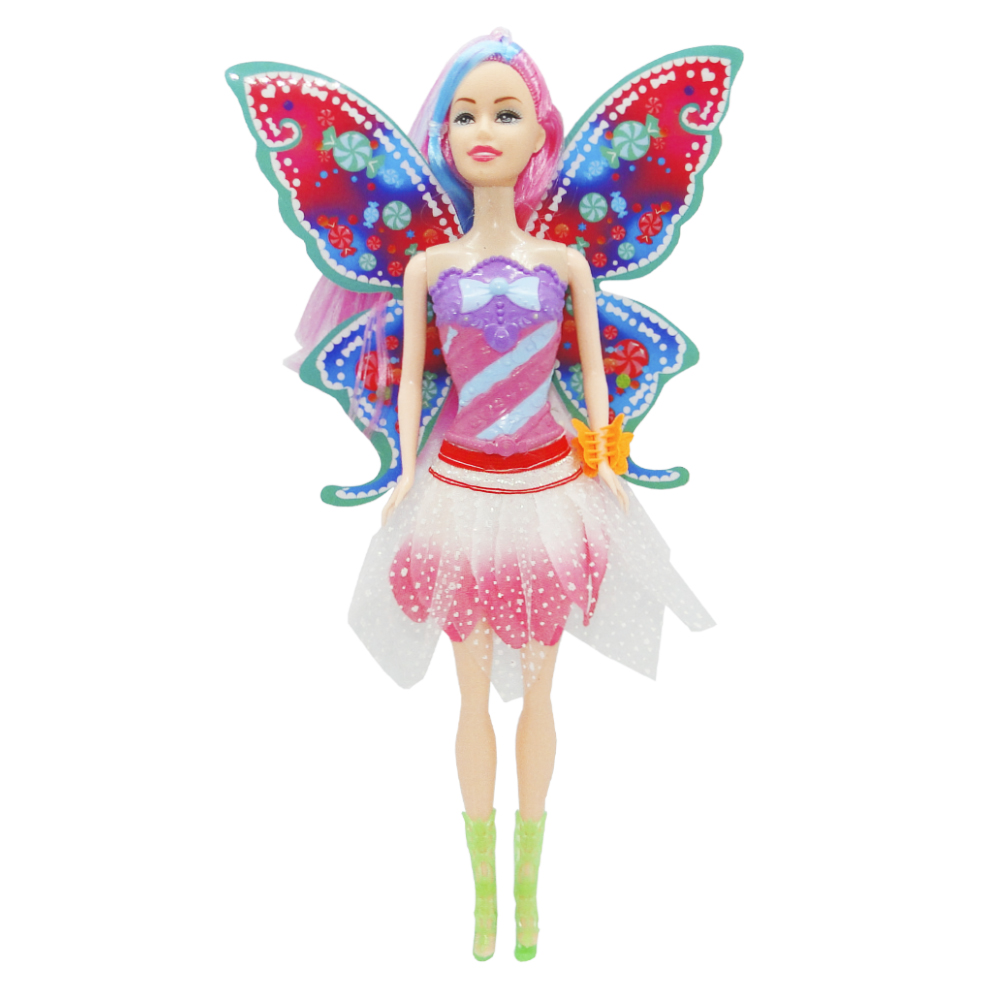 BONECA FADA BEAUTIFUL FAERY COM ACESSORIO COLORS 2 PECAS