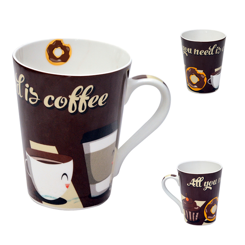 CANECA DE PORCELANA MUDDY ALL YOU NEED IS COFFEE 320ML WX