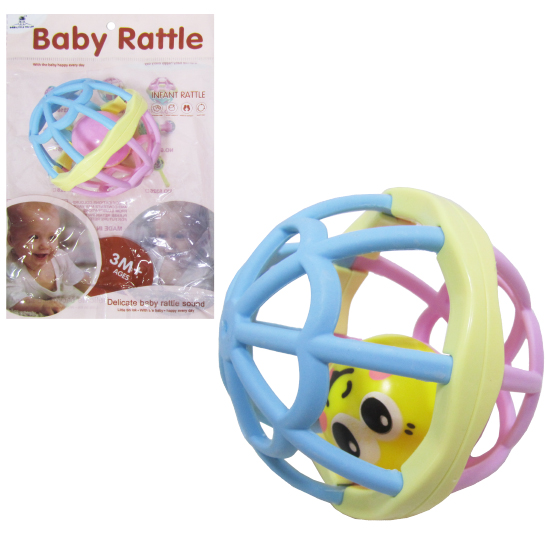 CHOCALHO DIVERTIDO BOLA BABY RATTLE COLORS